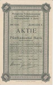RüCksichtsvoll Mechanische Treibriemenweberei U Leder Treibriemenfabrik Berlin 1924 Automobile üBereinstimmung In Farbe