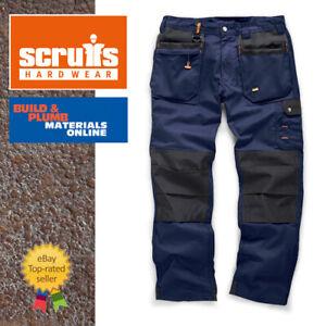 Scruffs-NAVY-WORKER-PLUS-Trousers-Trade-Hard-Wearing-Work-Trousers