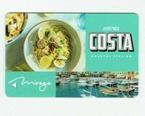 MIRAGE Room KEY Card Casino LAS VEGAS Hotel Osteria COSTA Restaurant