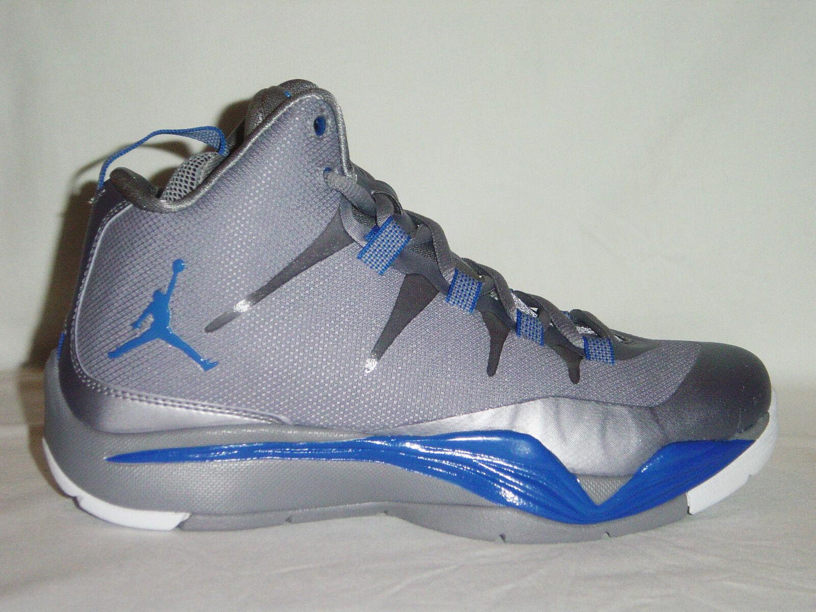 Boys/femmes /Girls Nike Air Jordan Super.Fly 2 GS Gris Basketball Trainers 007