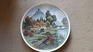 Huge-Villeroy-and-Boch-19th-c-Earthenware-Charger-55cm-dia-Textured-ground