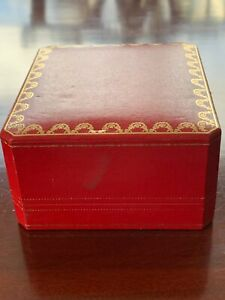 Vintage red jewelry box