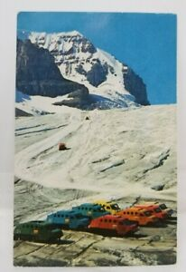 Vintage-canadian-ice-taxi-postcard-1960-039-s-Mountains