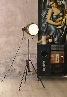 Design Stehleuchte Metall Deckenfluter Loft Stehlampe Stativ Lampe Fotoleuchte