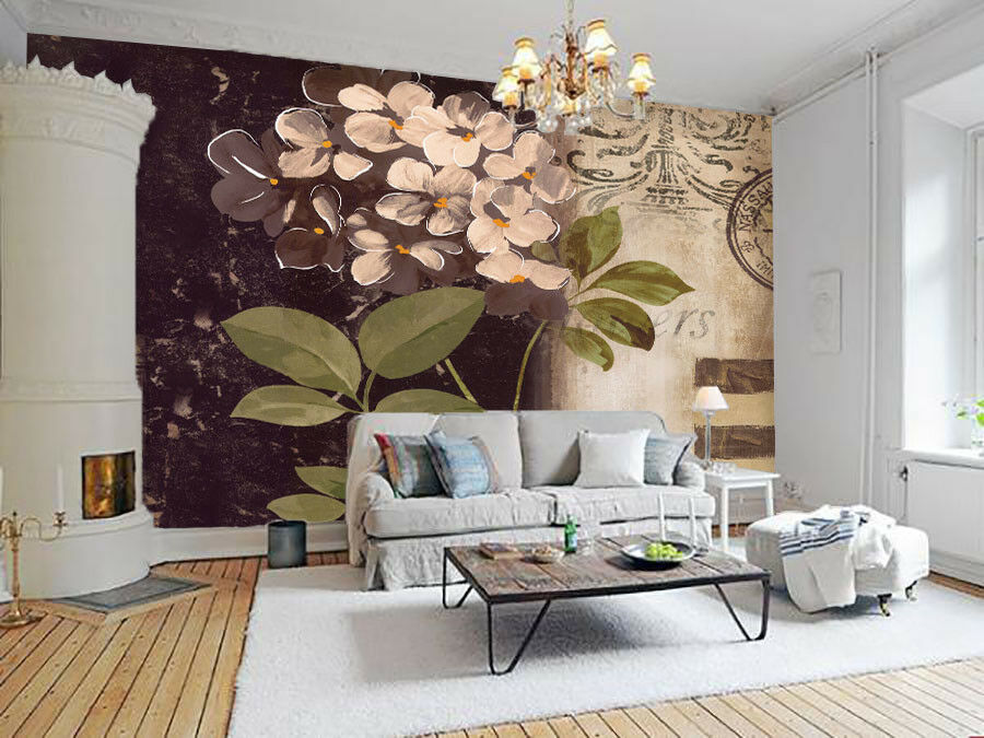3D Flowers Pattern 672 Wall Paper Wall Print Decal Wall Deco Indoor Mural Lemon