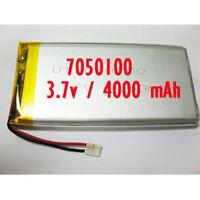 7050100 Rechargeable Polymer Li Ion Battery Lipo 3.7v 4000 Mah For Gps Ipaq Pda