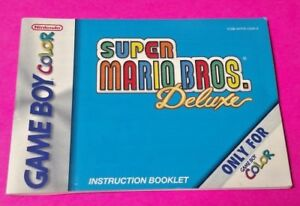 Super-Mario-Bros-Deluxe-Nintendo-Game-Boy-Color-Instruction-MANUAL-ONLY-No-Game