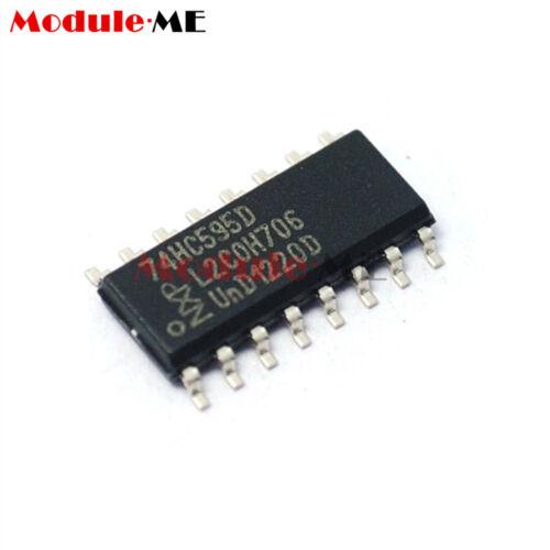50PCS 74HC595D 74HC595 8-Bit Shift Register SOP-16 NXP IC New UK