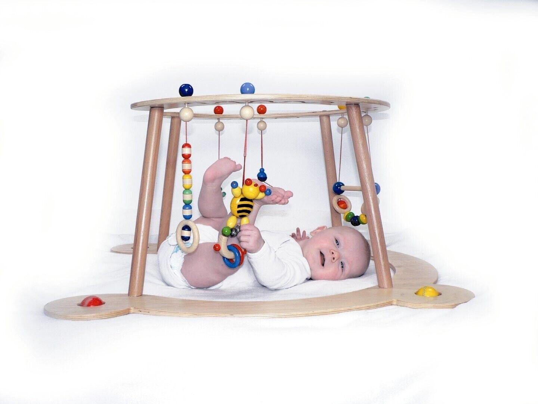 Babyspiel-u.Lauflerngerät 760 x 760 x 80 NEU Spieltrapez Spielcenter Spielbogen