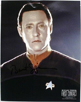 "Brent Spiner as Lt. Commander DATA Autographed 8""x10"" Photo - STAR TREK Next Gen"