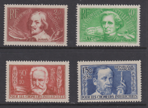 FRANCE-1938-YT-330-331-332-333-PASTEUR-HUGO-CALOT-BERLIOZ-N-MNH-NSC-COTE-75