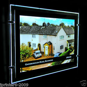 A3 2 Pieces LED Window Light Pocket Light Panel Estate Agent Display Kit Si Side