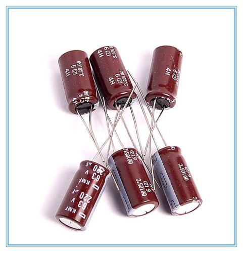 6pcs 220uf 63v NCC Radial Electrolytic Capacitors KMF 63v220uf