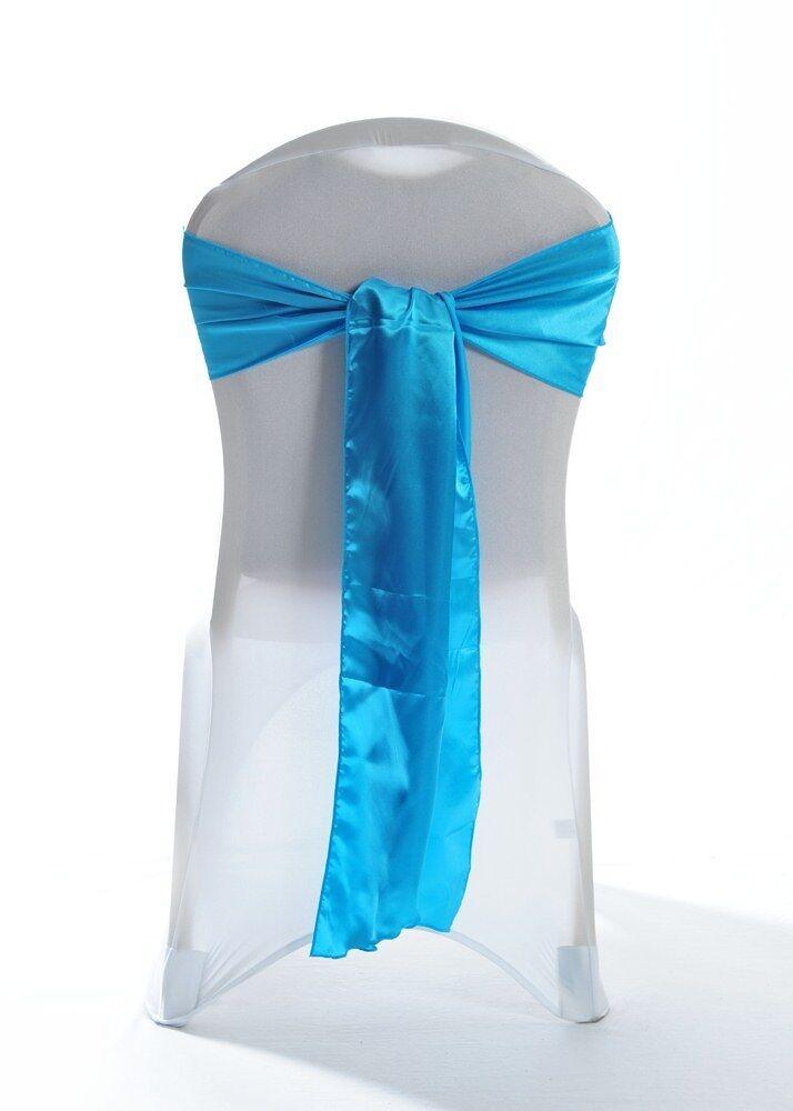 Türkis grün Satin Hochzeit Sessel Schärpen 1,10,25,50 OR 100 Schärpen  | New Style  | Bestellung willkommen  | Exquisite (in) Verarbeitung
