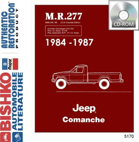 1984 1985 1984 1987 Jeep Comanche Shop Service Repair Manual CD OEM Guide