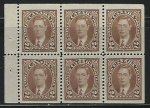 CANADA - #232a - 2c KING GEORGE VI MUFTI ISSUE BOOKLET PANE MNH