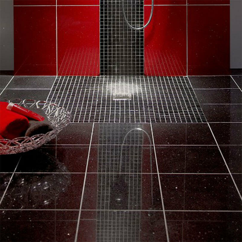 Polished Black Quartz Stardust Glitter Wall And Floor Tiles Sparkles