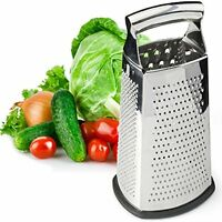 Box Grater, 4-sided Stainless Steel Large 10-inch Grater For Parmesan Cheese, By