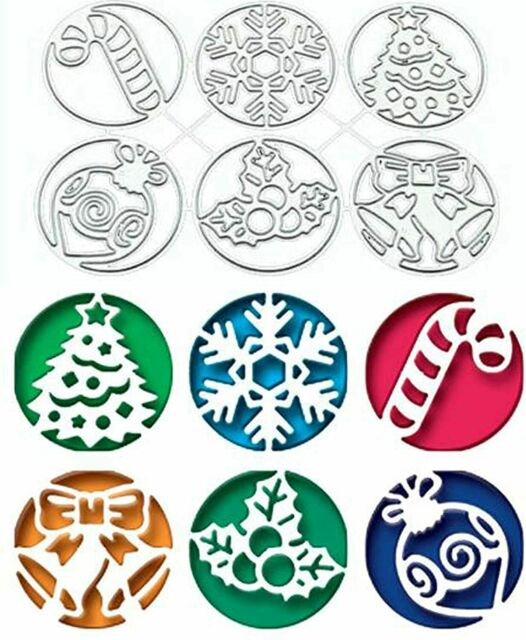 8Pcs Christmas Metal Cutting Dies Stencil Scrapbook Paper Crafts Embossing Mold