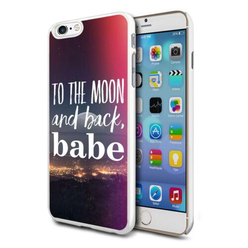 A la Luna Diseño Funda Rígida posterior Cubierta De Piel Para Varios Teléfonos