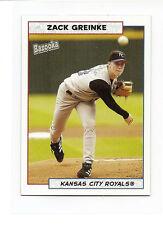 Zack Greinke Kansas City Royals 2005 Topps Bazooka #158 Mini Baseball Card MINT