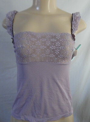 Purple Felina Camisole Top Nylon/spandex Adjustable Straps 90096 Small Initiative Lilac /l Clothing, Shoes & Accessories