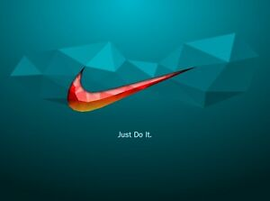 soltar cirujano Derecho  Nike Abstract Logo - Just Do It Quote Wall Art Large Poster / Canvas  Pictures | eBay