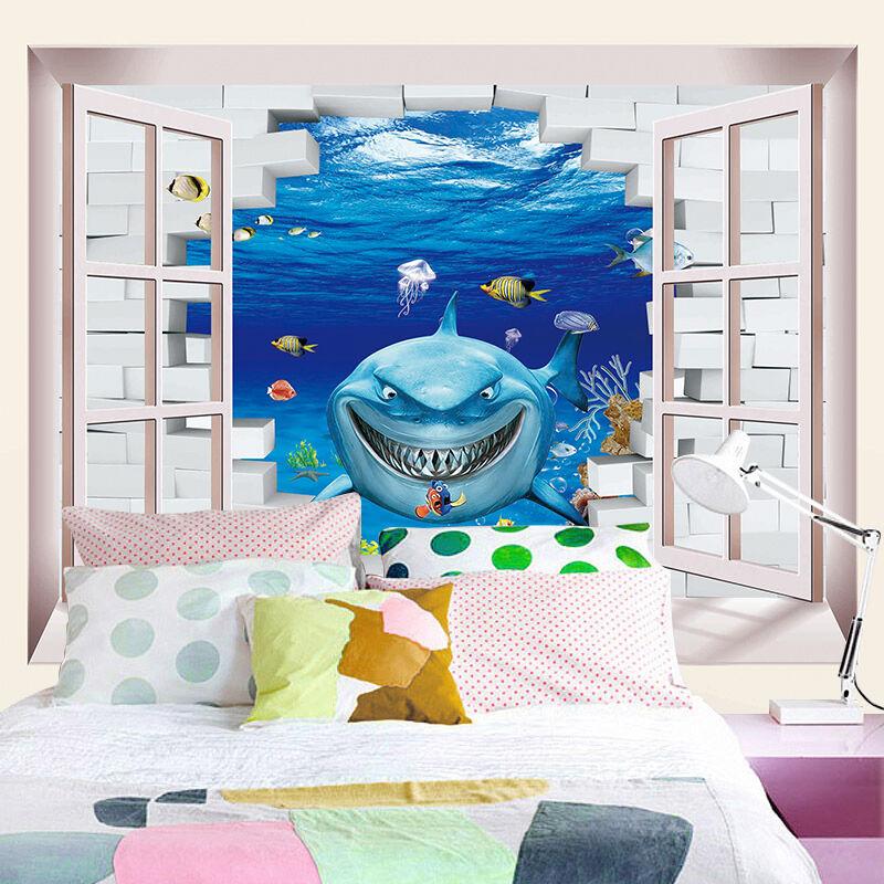 3D Cunning shark 667 Wall Paper Print Wall Decal Deco Indoor Wall Murals