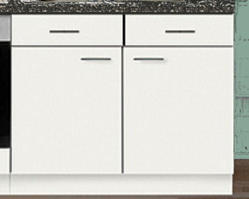 Meuble bas favori 2 blanc 100 cm M plan de travail cuisine multi-usage Placard