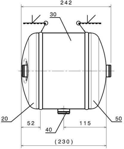 Luftkessel 6L Ø206 Stahl Druckluftbehälter Ablassventil Air Tank