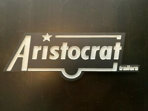 Vintage Aristocrat Trailer Trailer Logo Emblem White Text On Black Background Ebay
