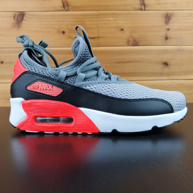 Nike Air Max 90 EZ GS Youth Running Shoes Grey Red Black AH5211 002 NEW Sz 7 Y