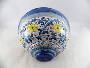 Vaso gerla in ceramica portafiori applique di caltagirone l cm
