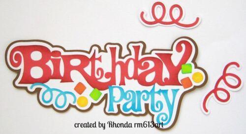 Birthday Party Boy paper piecing title premade scrapbook page Rhonda rm613art