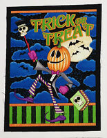 Trick Or Treat Halloween Fabric Craft Panel Square Cotton Quilt Block10x13 Inch
