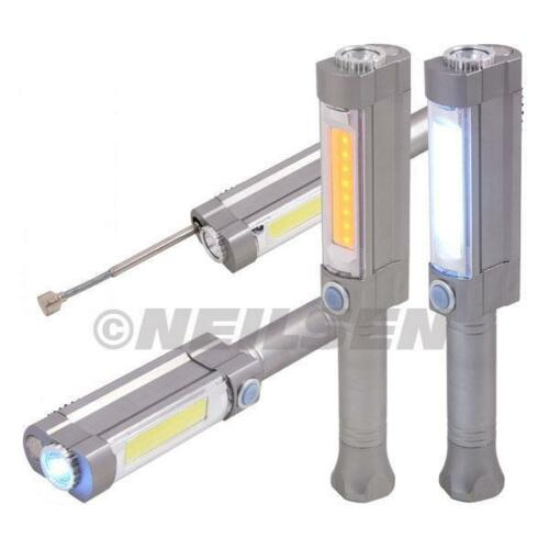 Neilsen LED Torch Inspection Lamp Warning Flashing Magnet Telescopic  4463