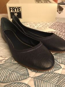 NEW-Frye-Ballet-Flats-Size-9-Carson-Leather-Purple