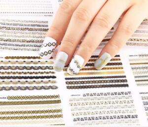 24-Pcs-DIY-3D-Manicure-Decals-Metallic-Lace-Flower-Nail-Art-Stickers-Gold