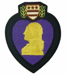 PURPLE HEART PATCH VETERAN MILITARY EMBROIDERED PATCH FREE SHIPPING!