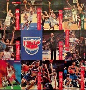 1996 SkyBox NBA Hoops New Jersey Nets Basketball Team 12 Cards Uncut Sheet