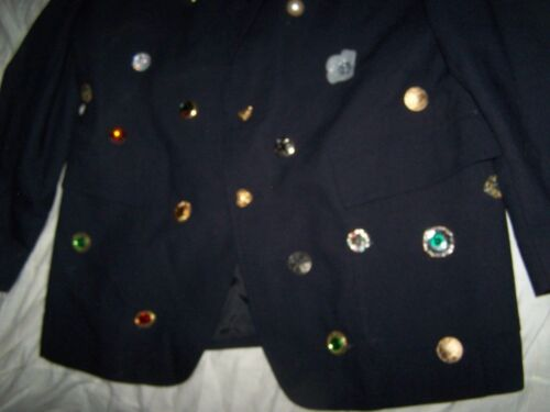 Blue Fully Excellent di 44r Lined Sha Levi Tailored Classics Strauss Blazer Size rFwYqr