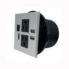 Desktop Power Grommet W/ USB Charging Ports, Desktop Outlet W/ AC Outlets HDMI