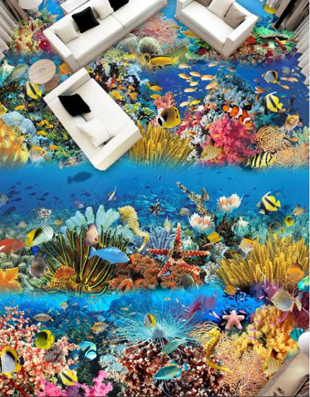 3D Koralle Meer 428 Fototapeten Wandbild Fototapete Tapete Familie DE Lemon