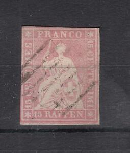Schweiz-Nr-15-II-Bzm-gestempelt