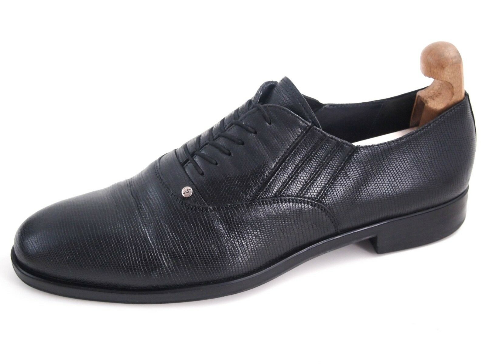 Cesare PACIOTTI Oxfords, Zapatos Para Hombres, De Cuero Negro Tamaño nos 11 EU 44  520