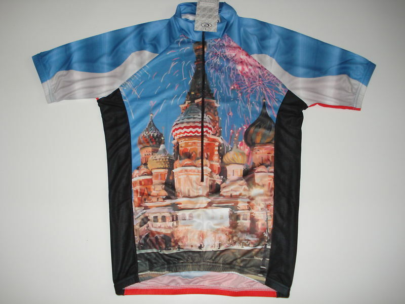 New RUSSIA Team Cycling Country Flag Bike Jersey  XXL