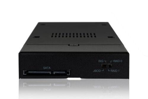 "New ICY Dock MB992SKR-B 2 bay Dual 2.5/"" RAID SATA HDD Hard Drive Mobile Rack"
