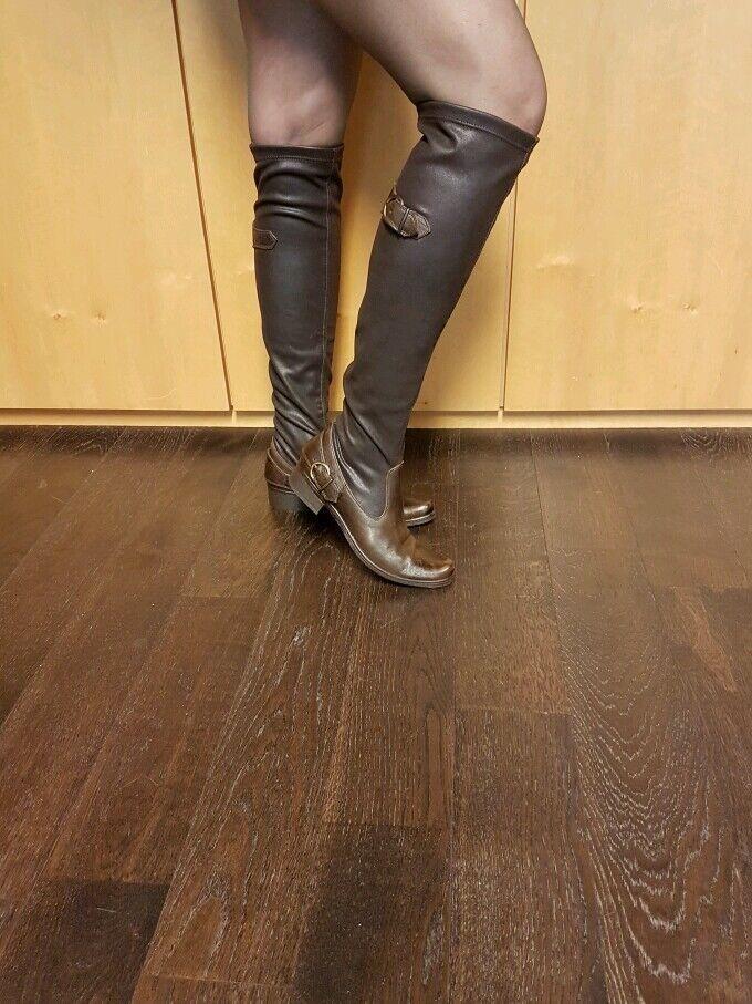 Overknee Stiefel Echtleder Echtleder Echtleder Made in   online