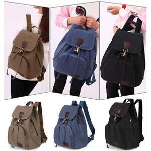 0ae7597463ea Fashion Women s Canvas Backpack Shoulder Bag Satchel Rucksack Travel ...