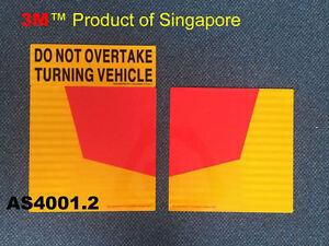 Aluminium retro reflective Do Not Overtake Turning Vehicle Sign Truck Metal